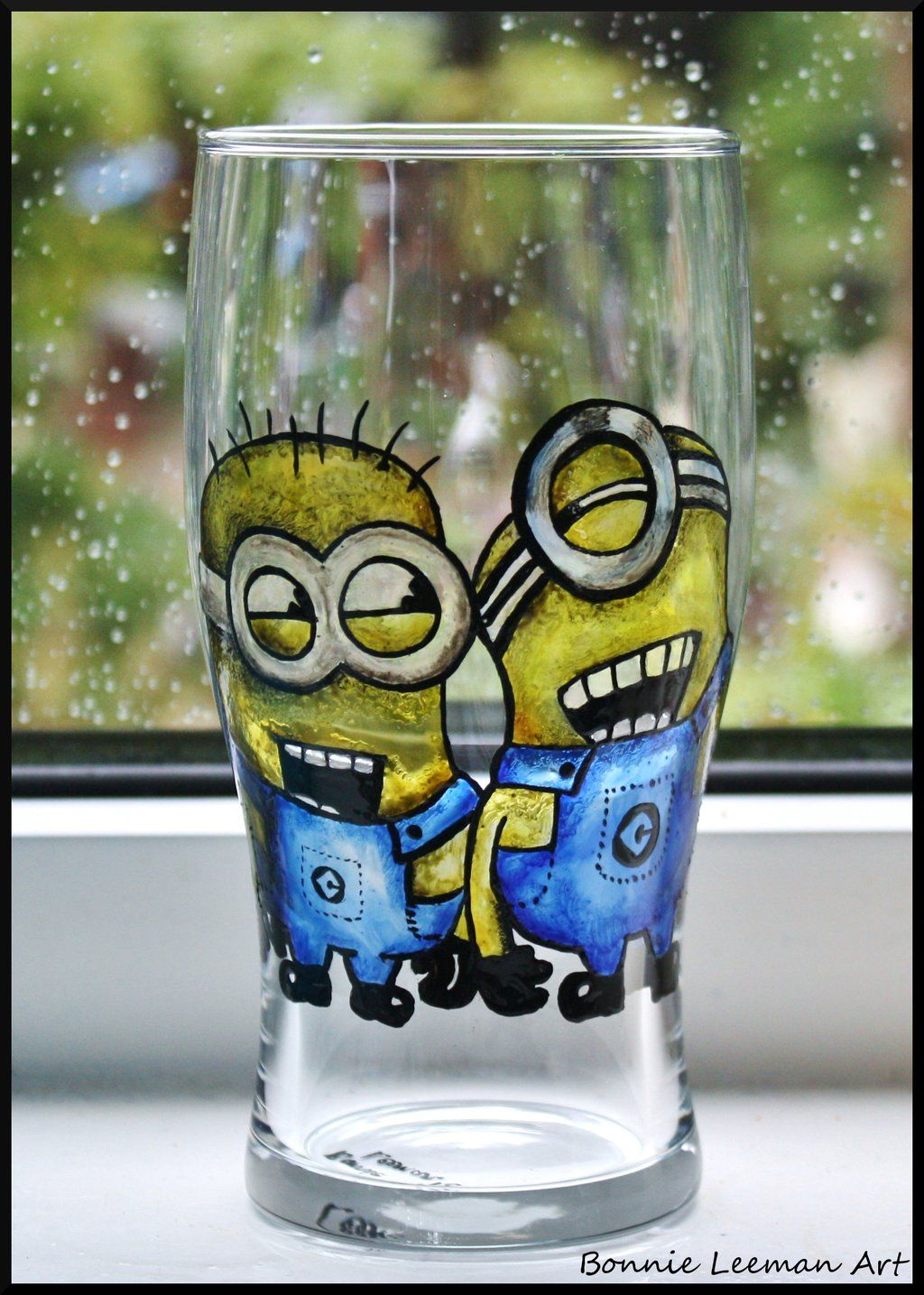 minion beer glass by bonniemarie deviantart com on deviantart