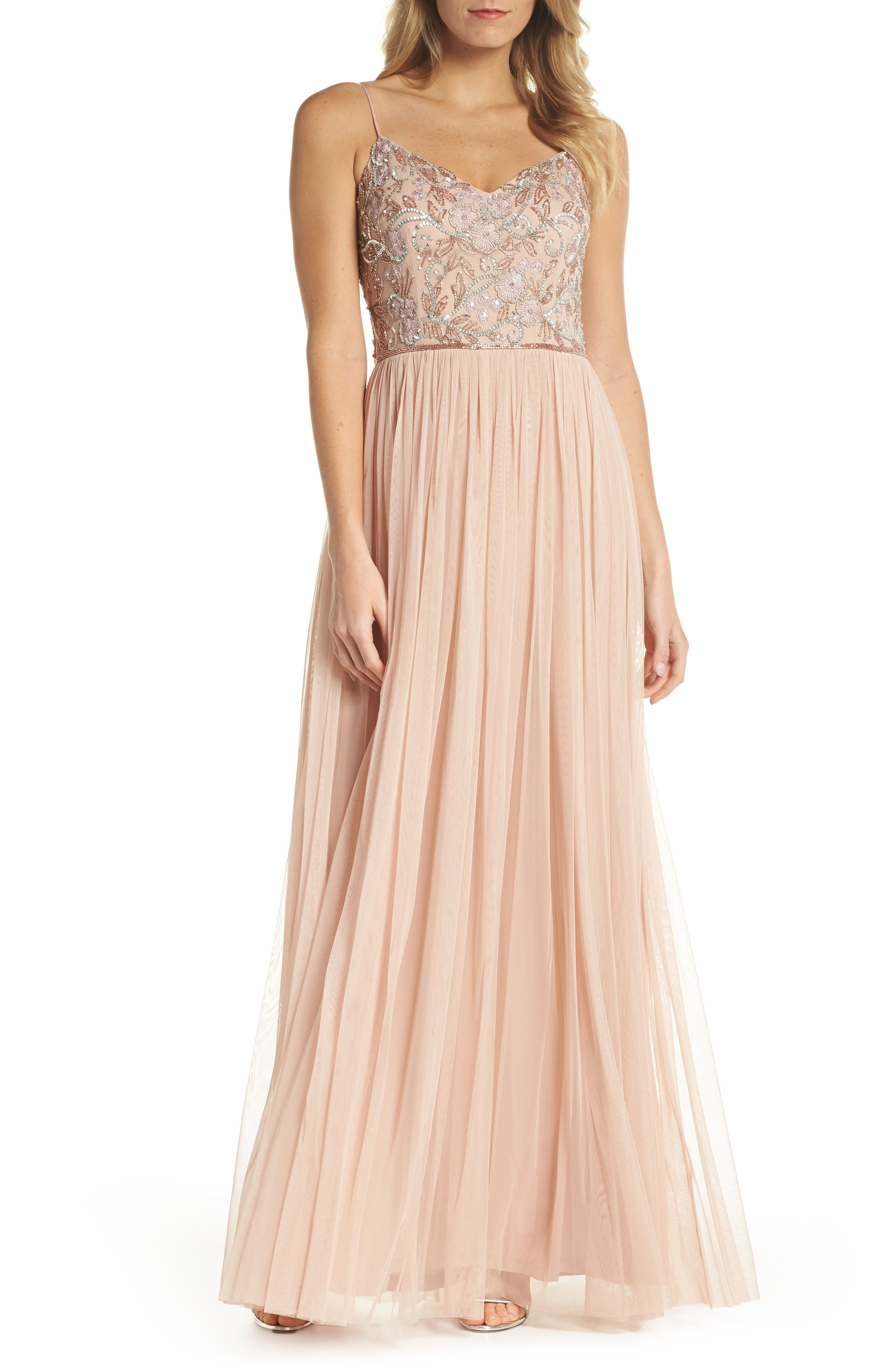 Adrianna Papell Beaded Mesh Gown Affiliatelink Bridesmaiddress