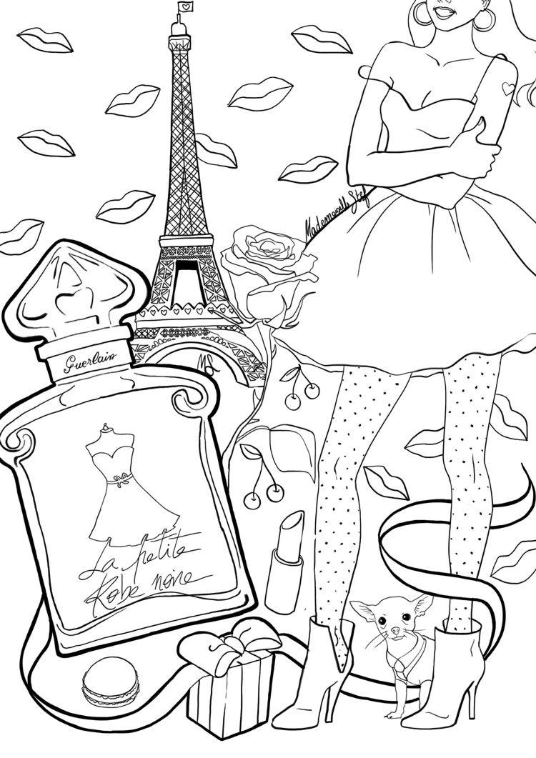 Épinglé sur COLORIAGE / COLORING Mademoiselle Stef