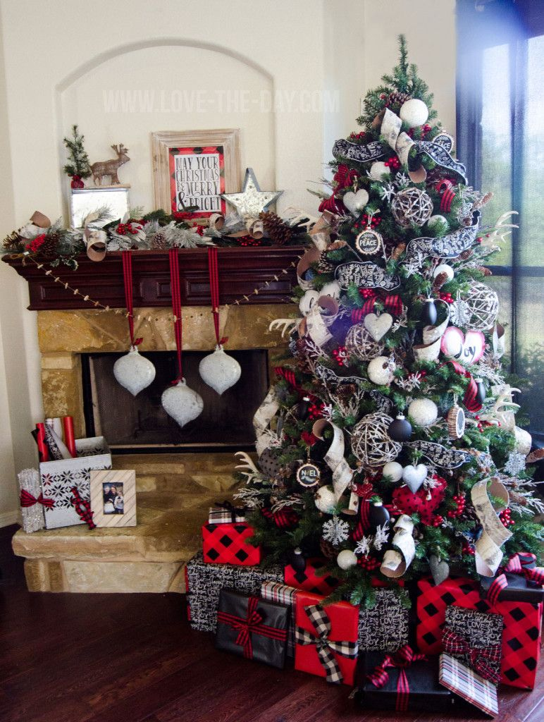 lumberjack christmas tree by love the day michaels dream tree challenge 2015 all about the red and plaid the rustic flocked balls are just icing on the - Michaels Christmas Eve Hours