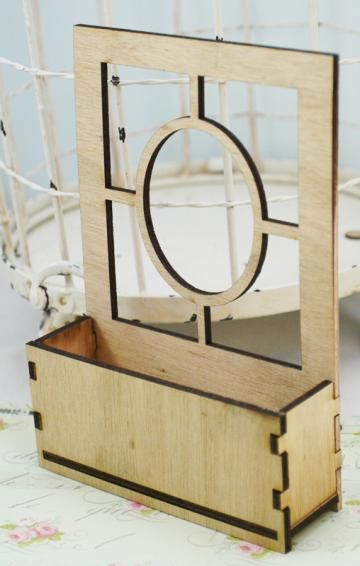 Wood window no. 7 with build a box