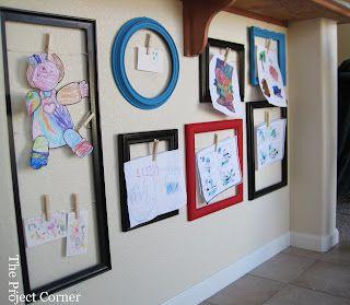 the project corner frame collage for kids art - Kids Art Frame