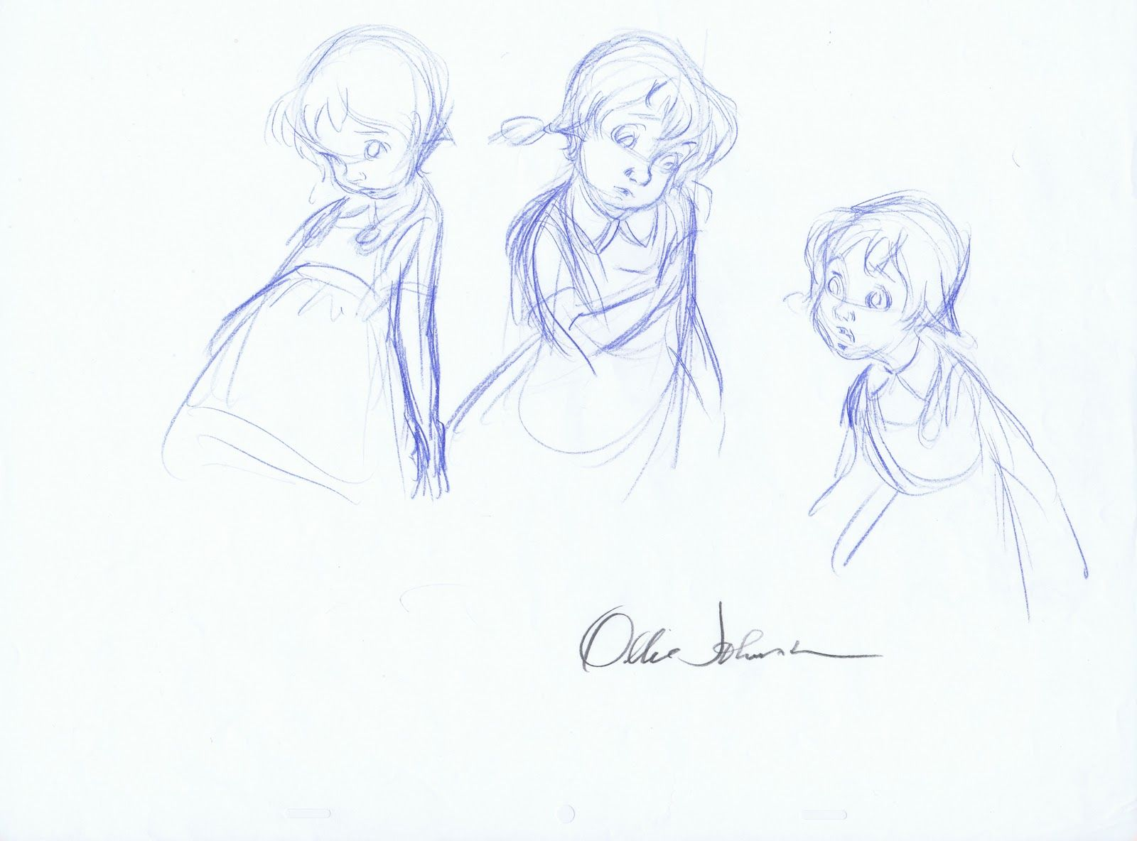 Ollie johnston sketch