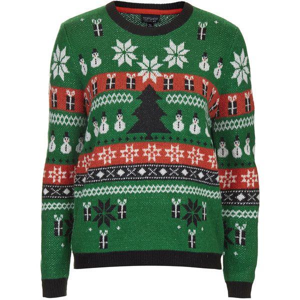 TOPSHOP Christmas Fairisle Sweater ($40) ❤ liked on Polyvore ...