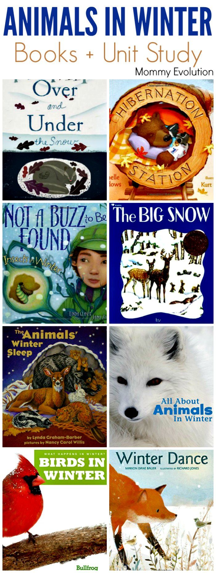 Animals in Winter Books for Kids (Unit Study) Animal