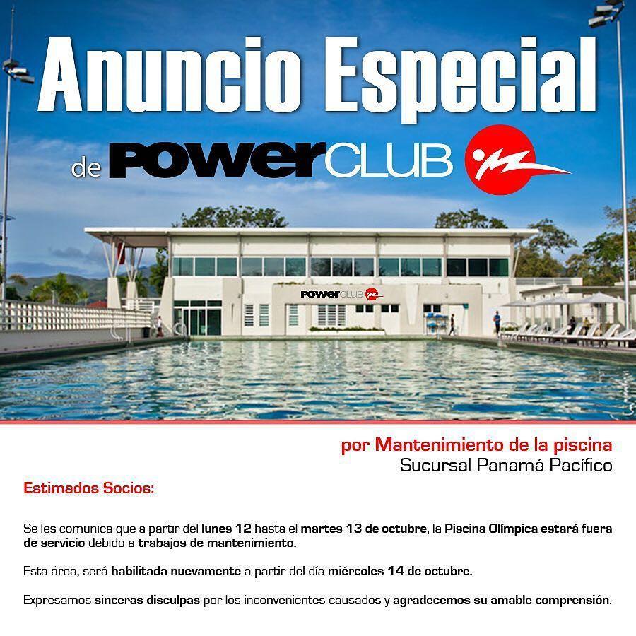Informaci n para socios powerclubpanama sucursal for Mantenimiento de la piscina