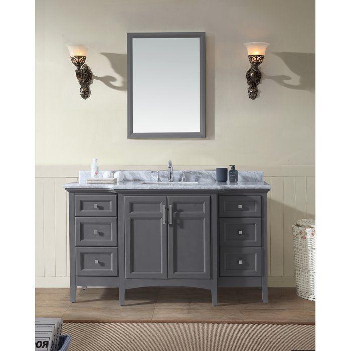 "Lebanon 60"" Single Bathroom Vanity Set | Bathroom vanity ..."