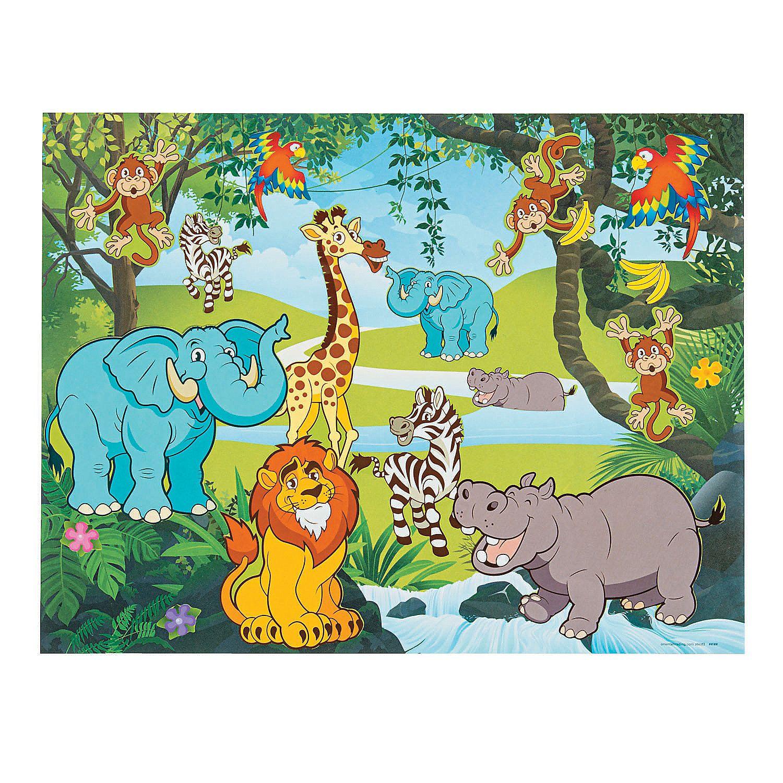 Zoo Sticker Scenes Art Workshop Jungle Scene Fun Express
