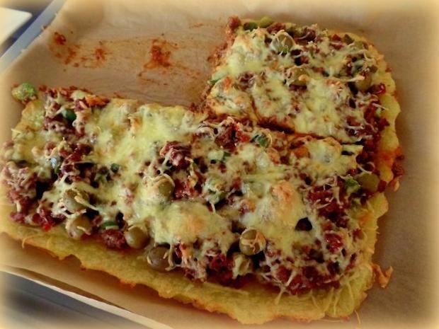 Kloßteig-Pizza - Rezept mit Bild