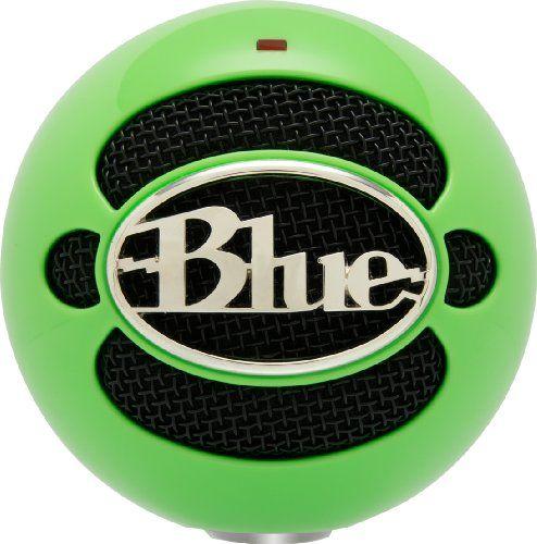 Multipurpose Blue Snowball USB Microphone Gloss Black Recording ...