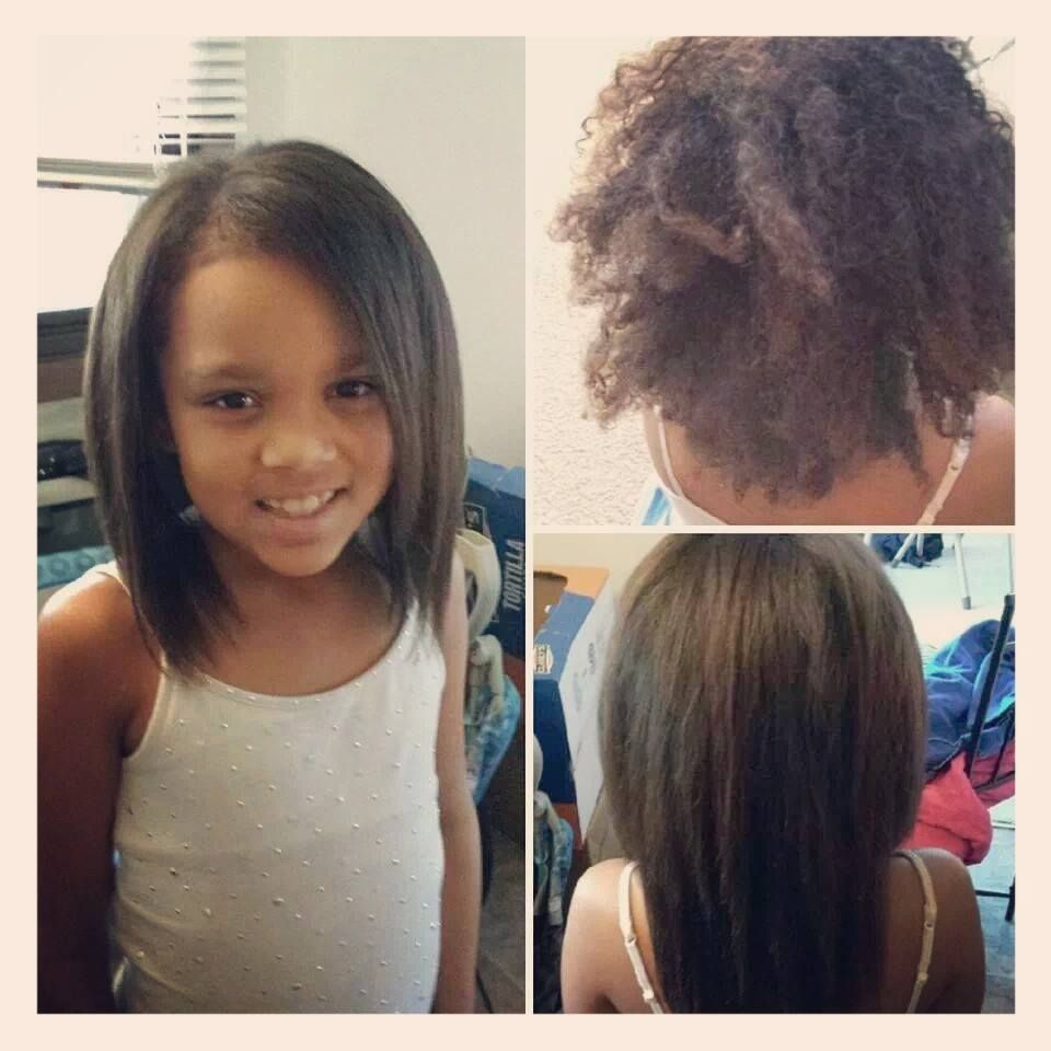 Brazillian Blowout On My Beautiful 8 Year Old Daugher She Is Biracial Black White Old Hairstyles Hair Styles Blowout Hair
