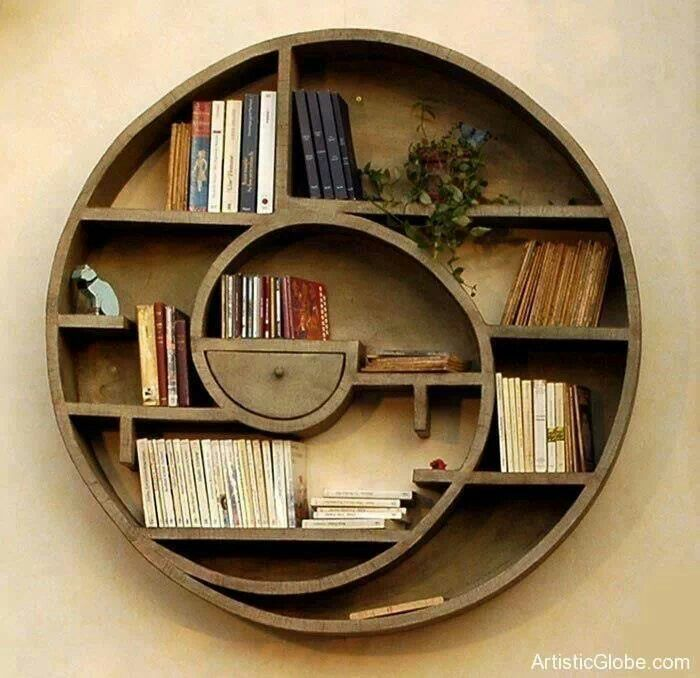 Circular Bookshelf Bookshelf Design Home Decor Decor