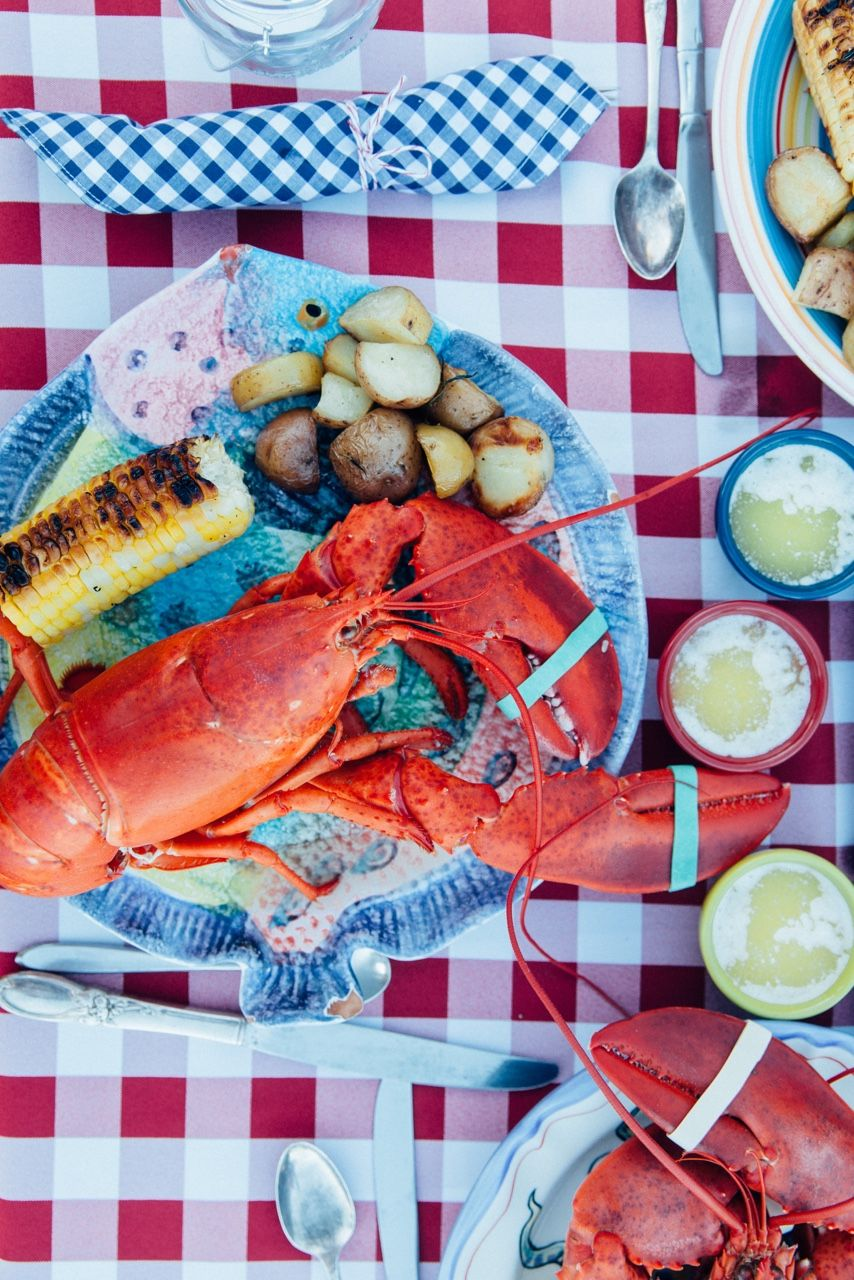 Azimuth Circle Lobster Dinner Meal Time Food