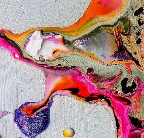 Cliff Briggie paint/water/ink/macro lens