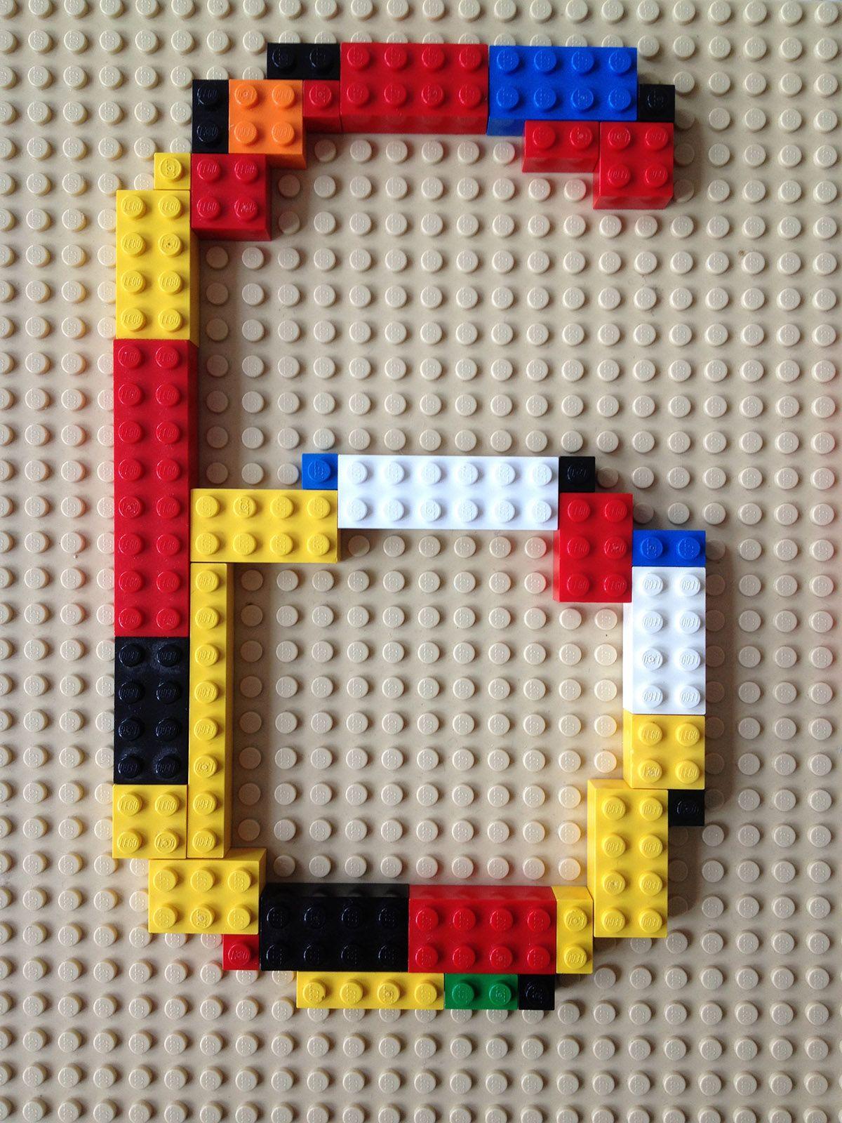 Vorlage zur #Einladung. Zahl aus Lego für die #Legoparty …   Pinteres…
