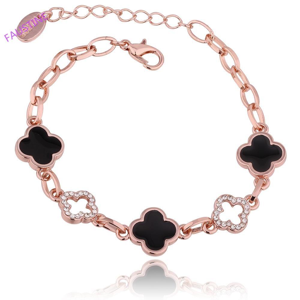 Lucky grass shape fashion bracelets for women free antiallergic