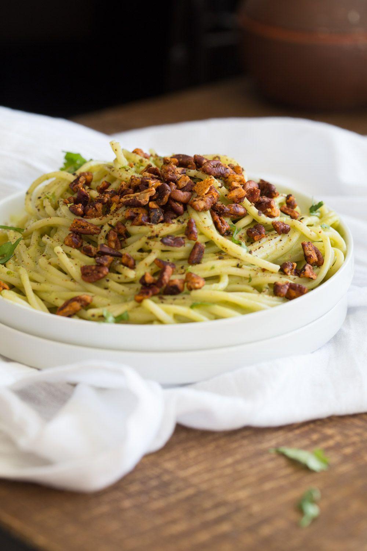 Avocado Pasta With Smoky Pecans Vegan Richa Recipe Avocado Pasta Savory Vegan Vegan Lentil Soup