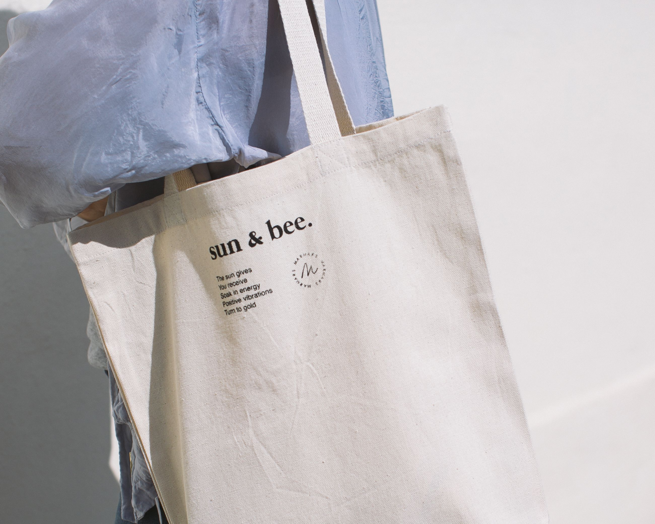 Sun Bee Cotton Canvas Tote Bag