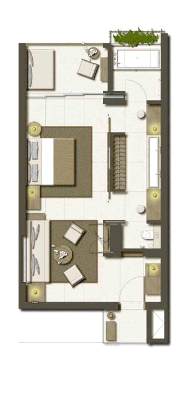 Hotel Room Plan: Alila Seminyak Bali Deluxe Suite 72 Sqm
