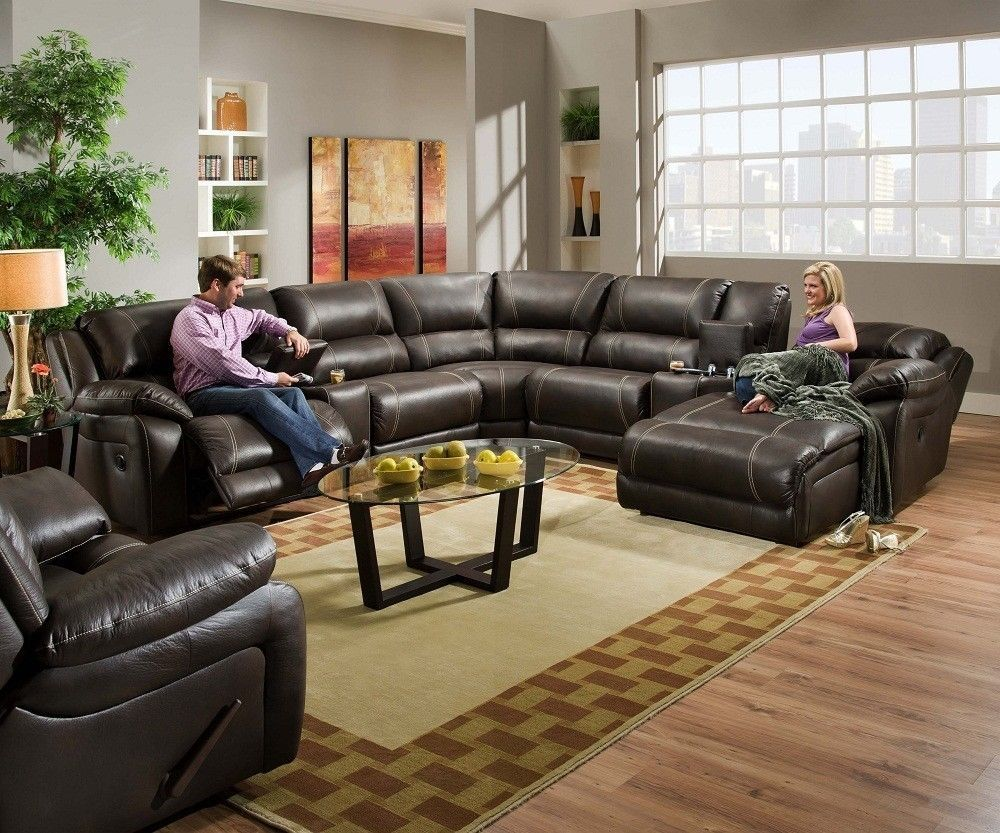 Blackjack simmons brown leather sectional sofa chaise