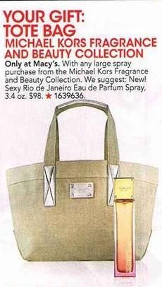 Free Tote Bag Michael Kors Fragrance and Beauty Collection