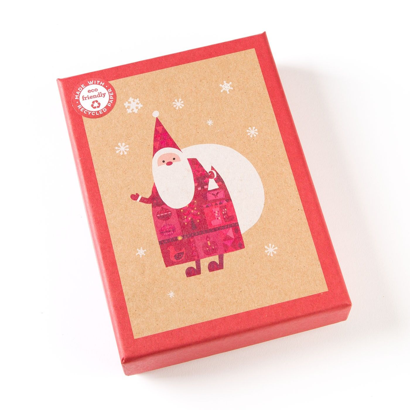 Patchwork Santa Boxed Holiday Cards (Set of 12) | Patchwork, Eco ...