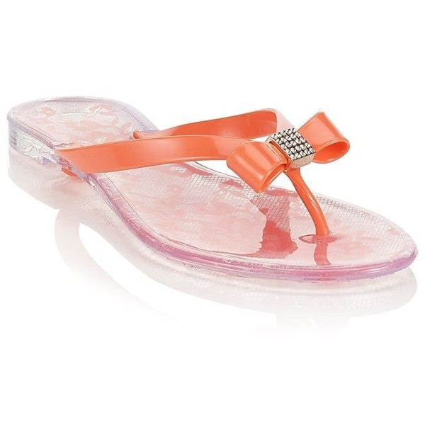 c1bffd0568dbba Head Over Heels Jelly Flipflops ( 26) ❤ liked on Polyvore featuring shoes