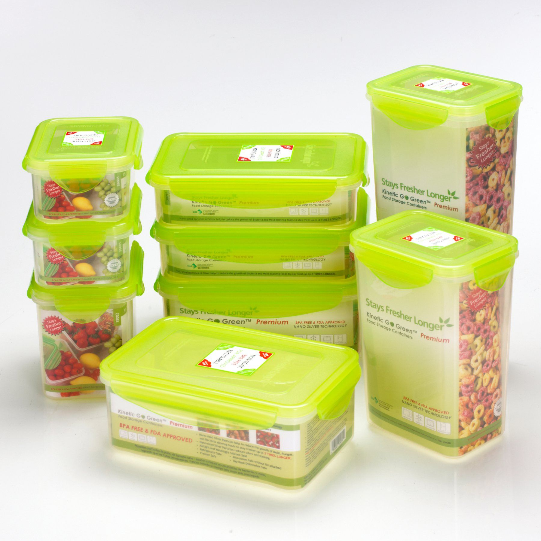 Kinetic Go Green Fresh 20 Piece Rectangluar Food Storage Container