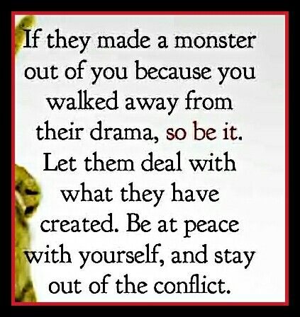 you are just a family of enablers allowing the monster you