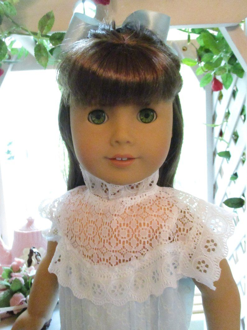 Light Blue Victorian Doll Dress to fit your 18 American Girl Doll in Historic Summer Style #dollvictoriandressstyles