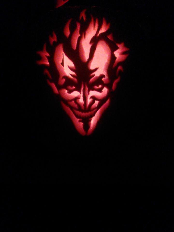 Pumpkin my husband carved using the quot joker arkham asylum