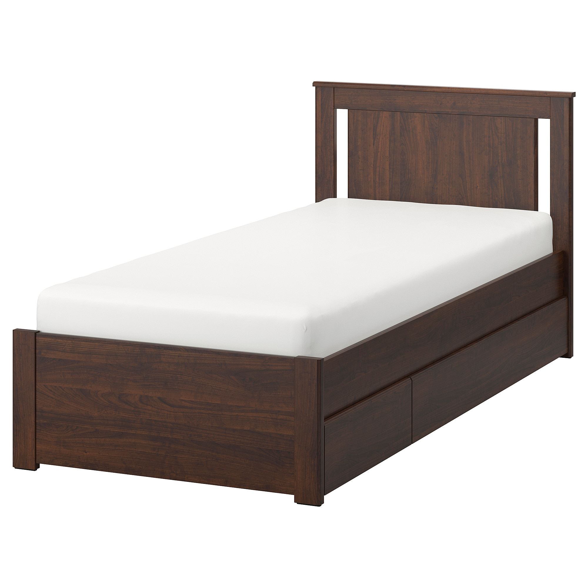 Best Ikea Songesand Brown Luröy Bed Frame With 2 Storage Boxes 400 x 300