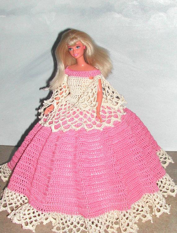 Crochet Fashion Doll Barbie Pattern- #620 SOUTHERN DESIGN #3 ...