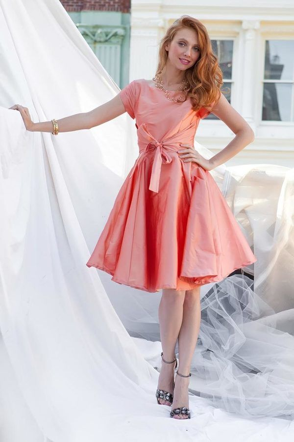 Shabby Apple West End Fit & Flare Dress Peach | !!!!Fashion for Sale ...