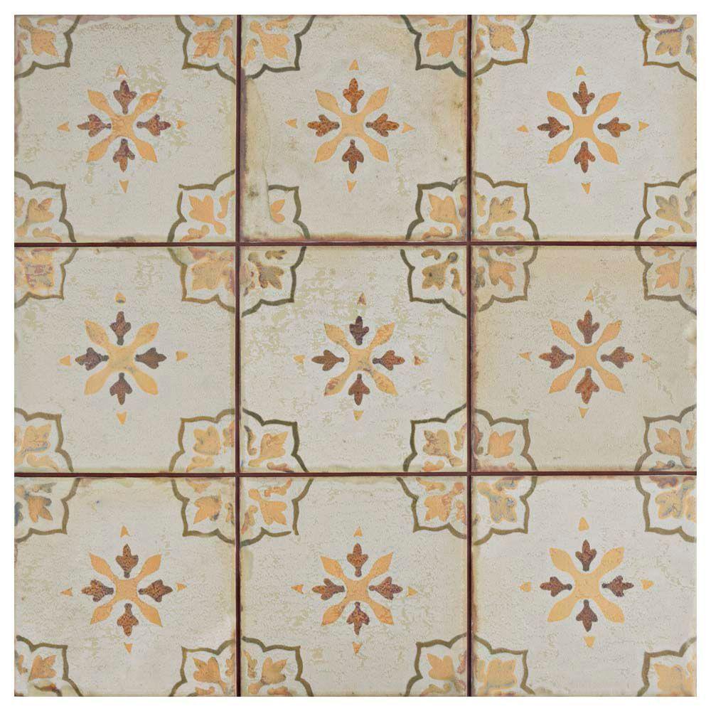 Mirambel Marron 13 Inch X 13 Inch Ceramic Floor And Wall Tile 12 2 Sq Ft Case Ceramic Floor Merola Tile Painting Ceramic Tiles