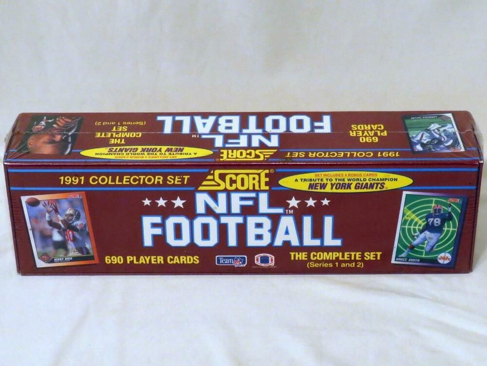 1991 nfl score football cards factory sealed complete set