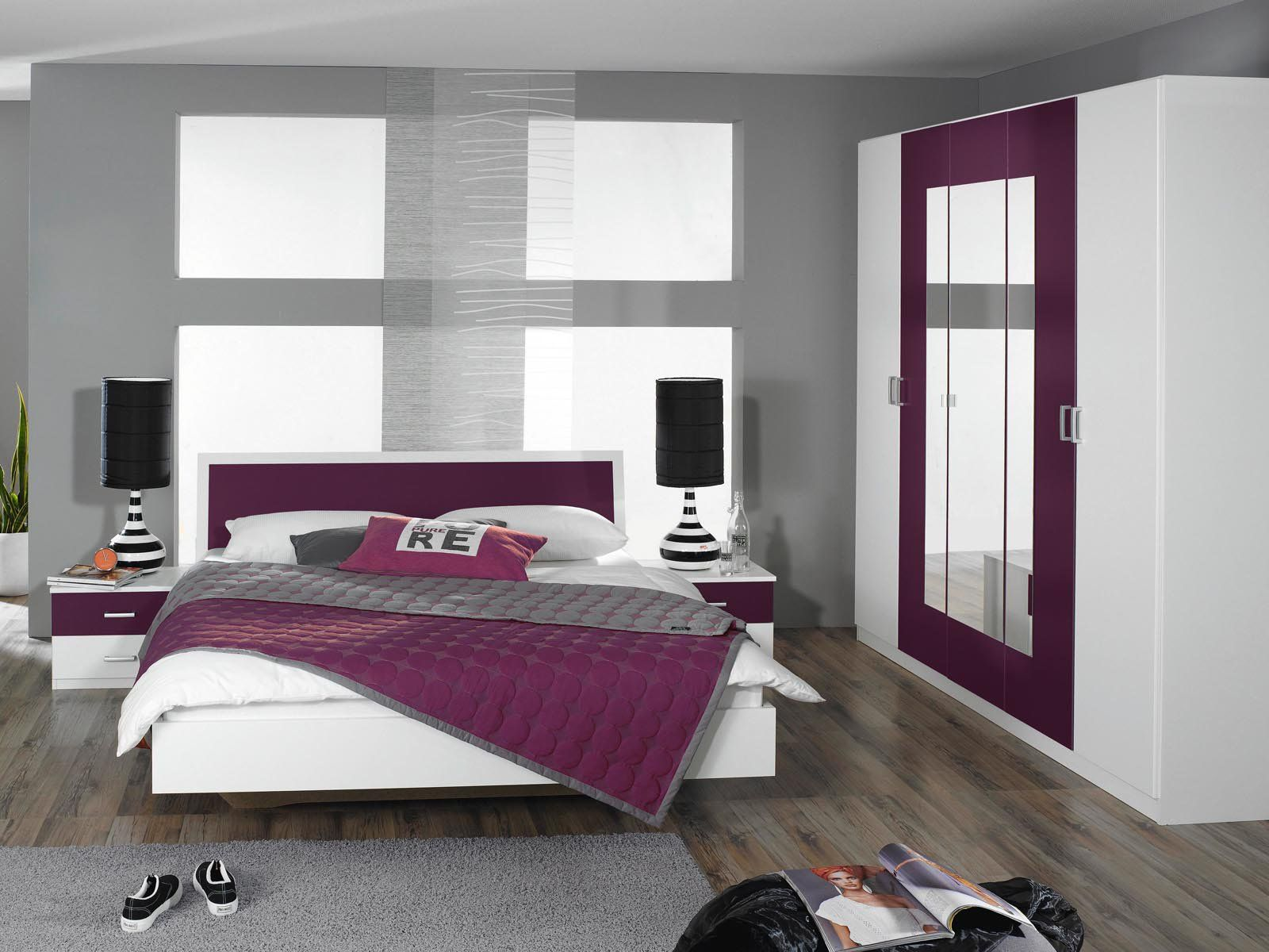 best chambre a coucher moderne mauve et noir photos design trends 2017. Black Bedroom Furniture Sets. Home Design Ideas