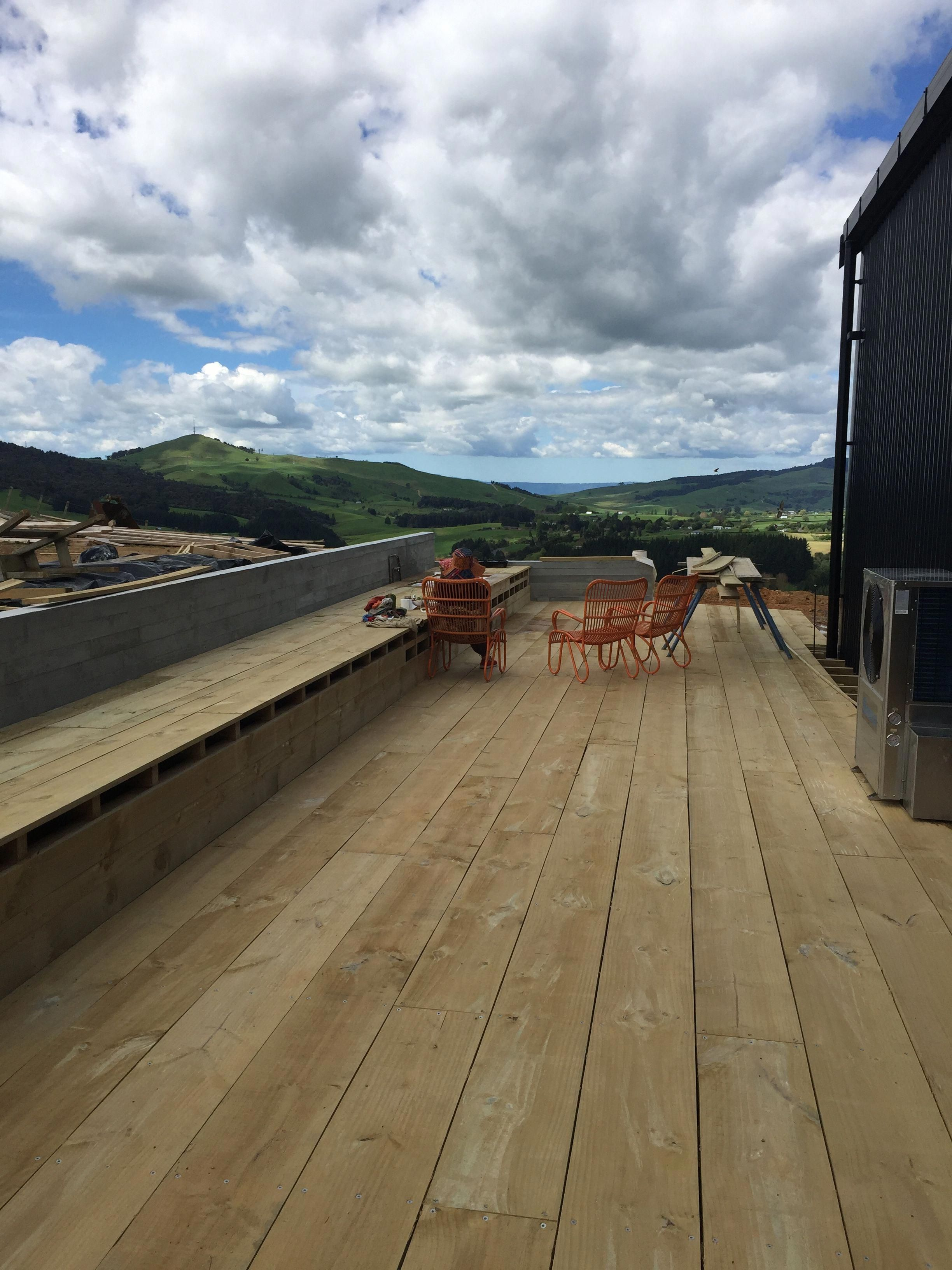 300mm Wise Timber Planks Used For Our Decking Look Great Sips Builder In Nz We Have Built Homes For Building A Deck Building Design Plan Deck Construction