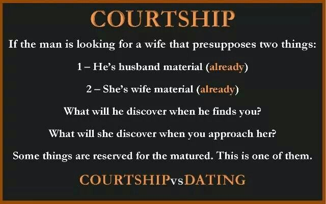 A what relationship is courtship The Difference