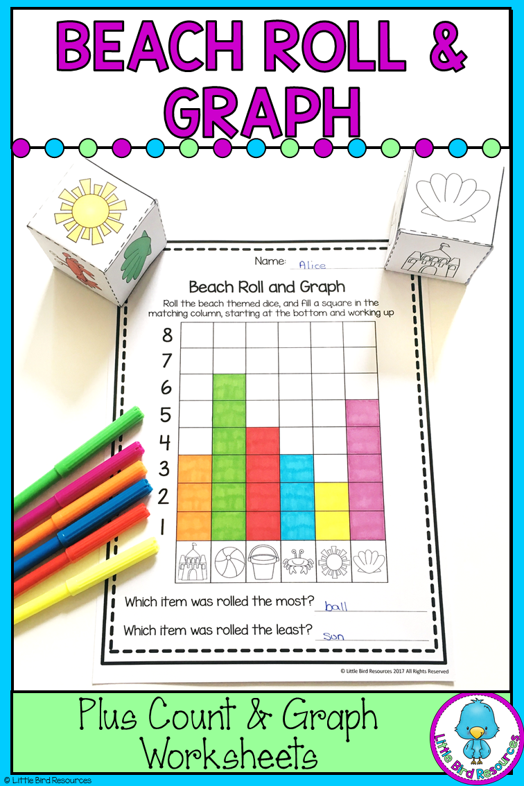 Beach Roll And Graph Graphing Activities Bar Graphs Activities Bar Graphs [ 1134 x 756 Pixel ]