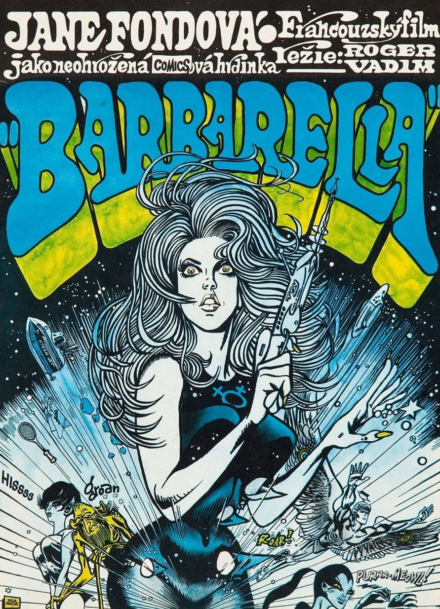 Psychedelic Jungle • Czech poster art for Barbarella - 1968