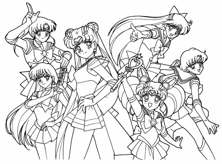 Sailor Moon Coloring Pages 7 900x668 (900×668)