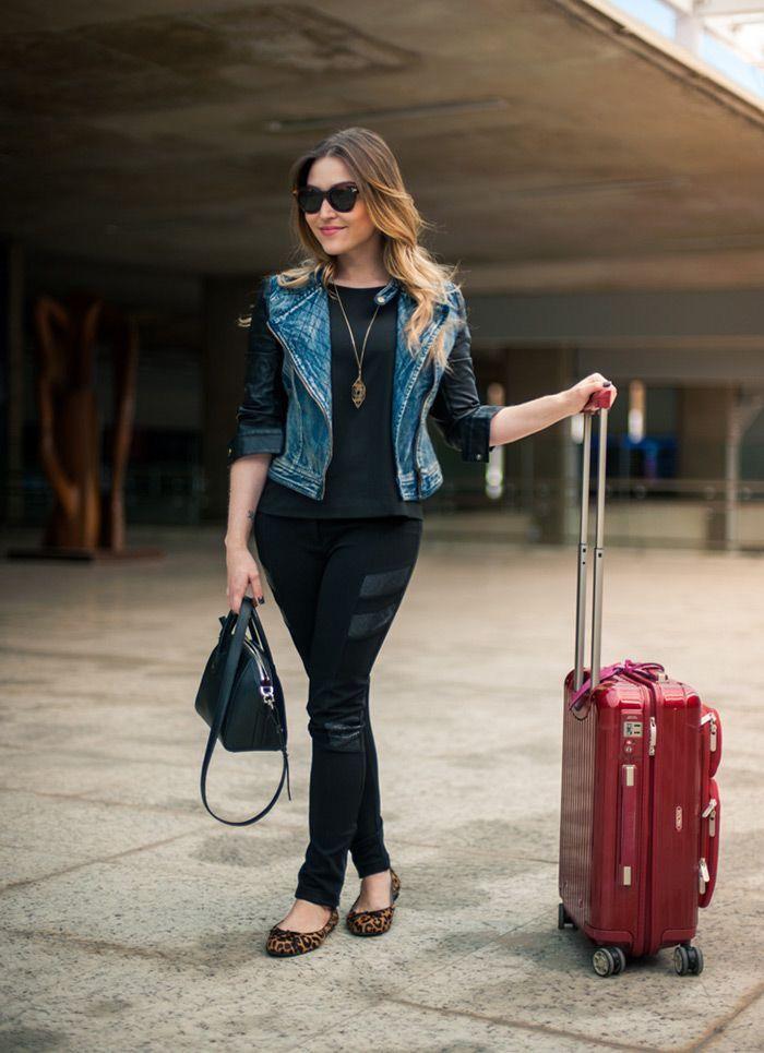 ✈ AERO LOOK - O que vestir para viajar de avião  d4974d25c20