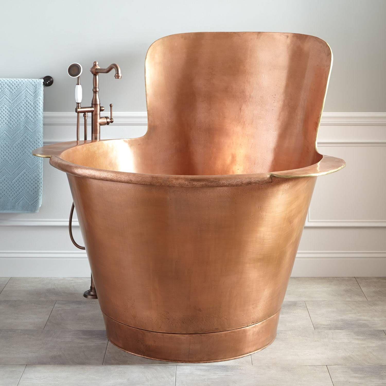 Lannese Copper Japanese Soaking Tub Bathroom Japanese Soaking