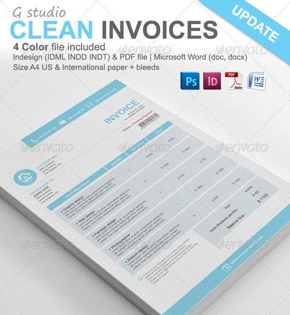 Free Download Invoice Template (PSD) #psdtemplate #webtemplate