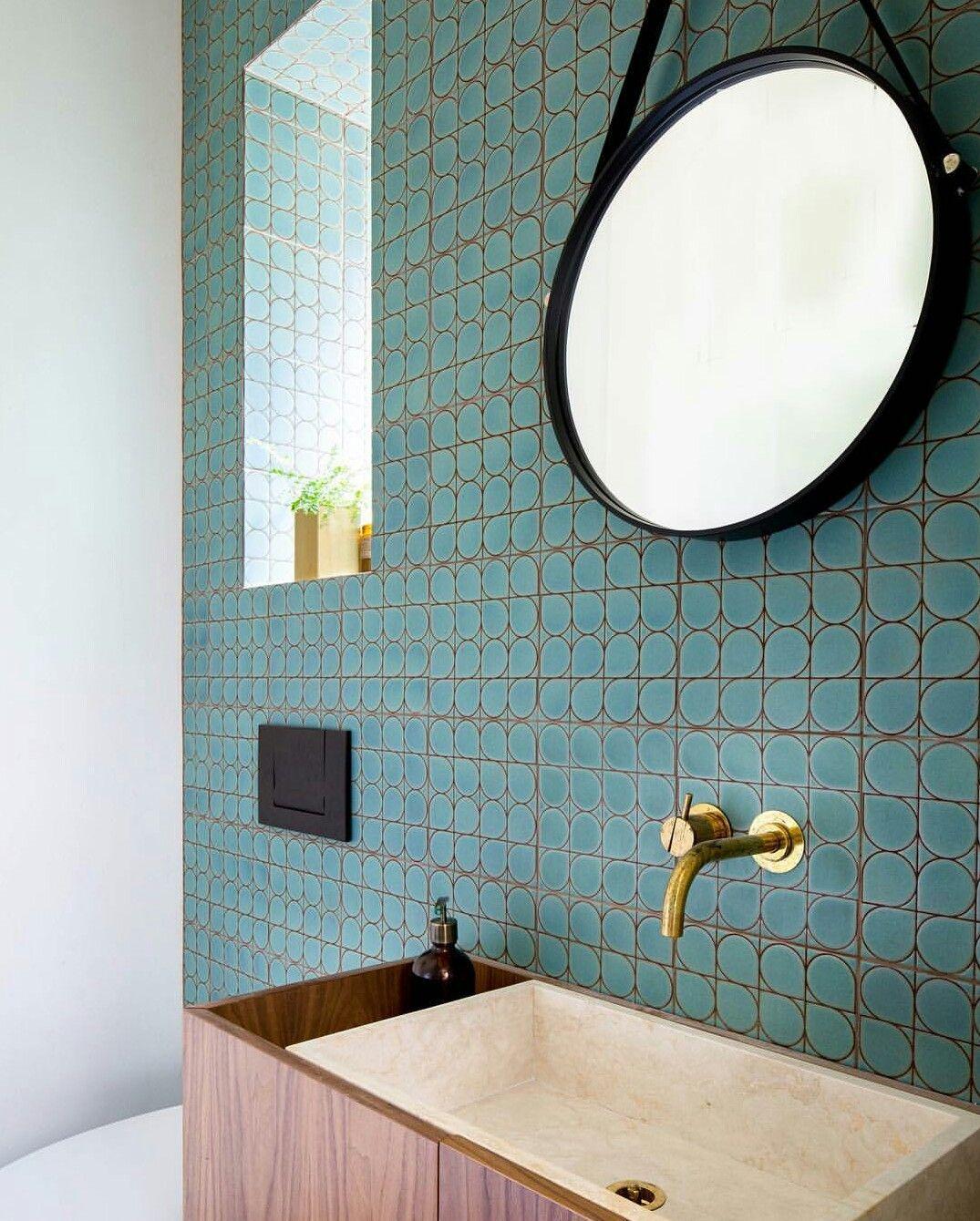 KISMET TILE MECCANO pattern in Azure glaze: Cho-Thompson Architects ...