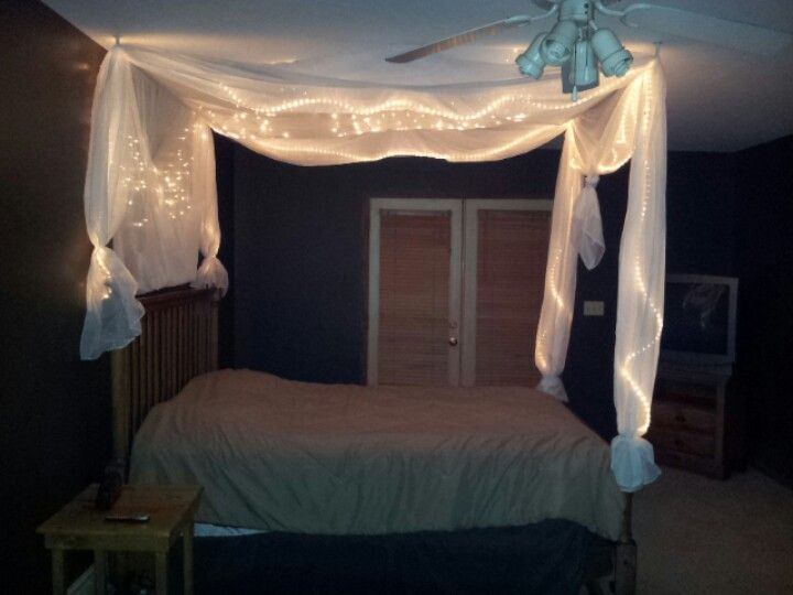 Diy Bed Light Canopy Canopy Bed Diy Bed Lights