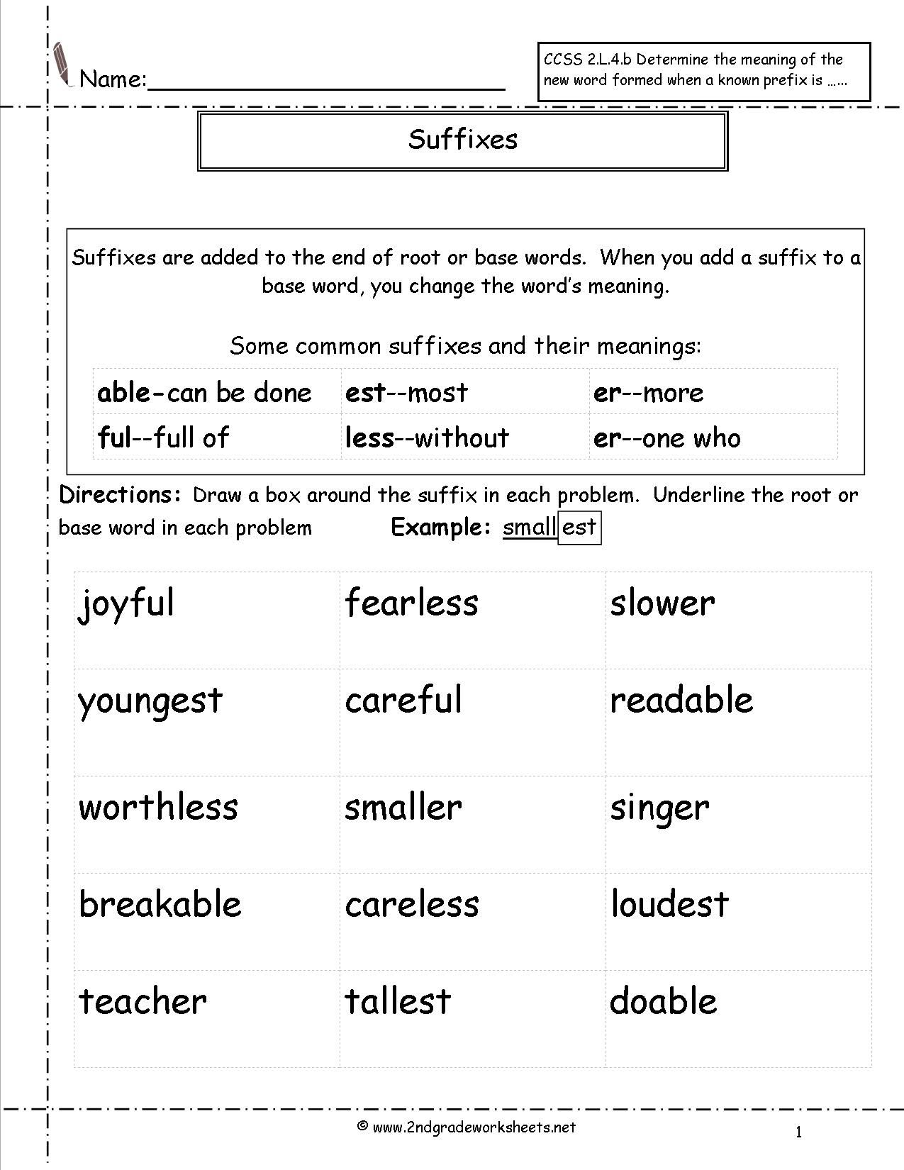 Pin by Laura Bradbury on Spring Unit in 2020   Suffixes worksheets [ 1650 x 1275 Pixel ]