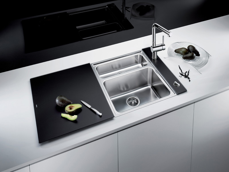 BLANCO Crystaline series. Sink + cutting board. Modern aesthetics ...