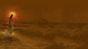 Jesus Walking On Water Christian Powerpoint Templates